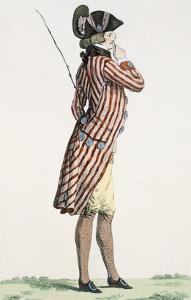 Le Lorgneur, Engraved by Baquoi, Plate No.283 from 'Galeries Des Modes Et Costumes Francais' by Francois Louis Joseph Watteau