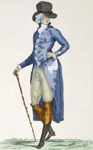 Master of the Royal House in an Elaborate Blue Coat, Engraved by Le Beau, Plate No.256 by Francois Louis Joseph Watteau