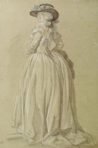 Standing Young Woman by Francois Louis Joseph Watteau