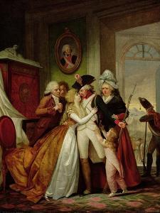 The Departure of the Volunteers by Francois Louis Joseph Watteau