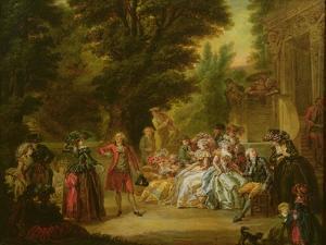 The Minuet under the Oak Tree, 1787 by Francois Louis Joseph Watteau