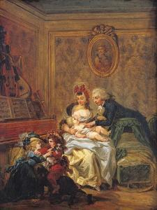 The Satisfaction of Marriage Or, the Happy Family by Francois Louis Joseph Watteau
