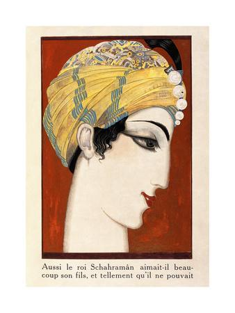 Front Cover, from 'History of the Princess Boudour- Tales of a Thousand and One Nights', 1926