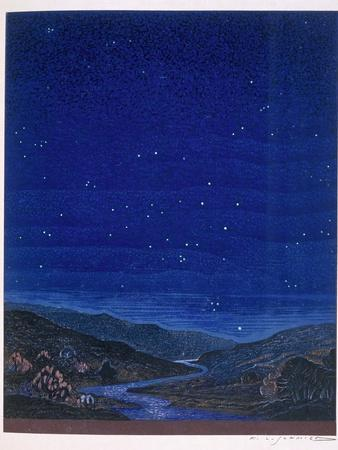 Nocturnal Landscape, Illustration from Rudyard Kipling's 'Kim', 1930