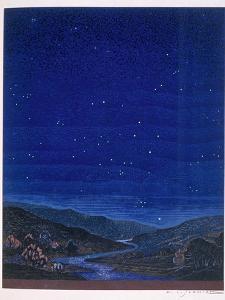 Nocturnal Landscape, Illustration from Rudyard Kipling's 'Kim', 1930 by Francois-Louis Schmied