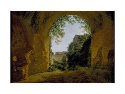 A View of a Garden, Seen from Within a Roman Vault, 1802 - 1824