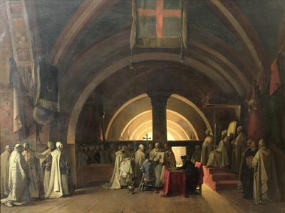 The Inauguration of Jacques de Molay into the Order of Knights Templar in 1295