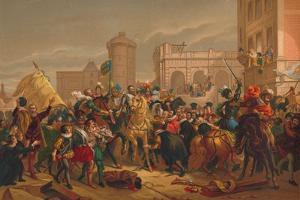 L'Entree D'Henri IV a Paris (The Entry of Henri IV into Pari), 1817 by Francois Pascal Simon Gerard