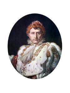Napoleon I in His Coronation Robe, C1804 by Francois Pascal Simon Gerard