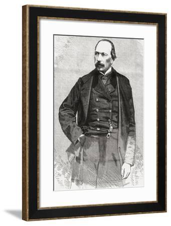 François Ponsard, from 'L'Univers Illustré', 1866--Framed Giclee Print