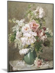 Still Life of Peonies and Roses by Francois Rivoire