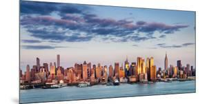 Midtown Manhattan Skyscrapers Reflecting Light at Sunset by Francois Roux