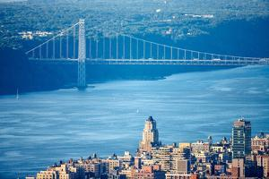 Upper West Side with George Washington Bridge and Hudson River by Francois Roux
