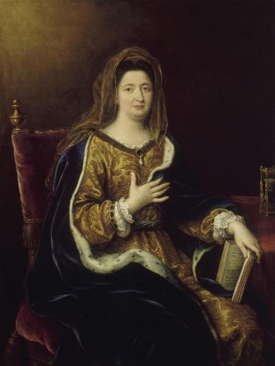 Françoise d'Aubigné, marquise de Maintenon, représentée en Sainte Françoise Romaine vers 1694-Pierre Mignard-Giclee Print
