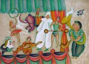 Au Cirque - Pierrot by Françoise Deberdt