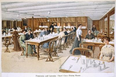 Franconia and Laconia: Third Class Dining Room--Giclee Print