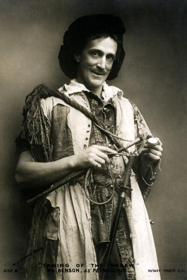 Frank Benson (1858-193), English Actor and Theatre Manager, Early 20th Century-J Caswall Smith-Photographic Print