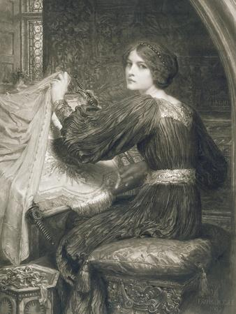 Penelope, Engraved by Norman Hirst (1862-C.1955) Pub. by Frost and Reed, 1903 (Mezzotint)