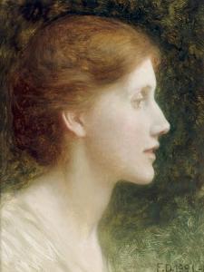Portrait of Agnes Mallam (Mrs Edward Foster), 1921 by Frank Bernard Dicksee