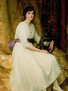 Portrait of Miss Dorothy Dicksee by Frank Bernard Dicksee