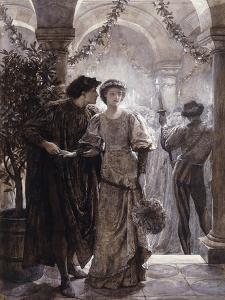 Scenes from Romeo and Juliet: The Ball Scene (I, V) by Frank Bernard Dicksee
