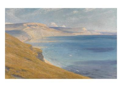 Sea and Sunshine, Lyme Regis, 1919 (Oil on Board)