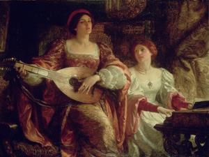 The Duet by Frank Bernard Dicksee