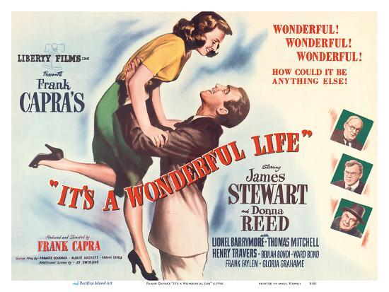 "Frank Capra's ""It's a Wonderful Life"" - Starring James Stewart, Donna Reed-Unknown-Art Print"