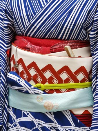 Detail of a Geisha's Sash (Obi), Pontocho