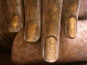 The Hands of Buddha at Wat Si Chum in Sukhothai Historical Park, Sukhothai, Thailand by Frank Carter