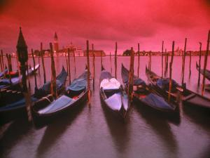 Gondolas, Venice, Italy by Frank Chmura
