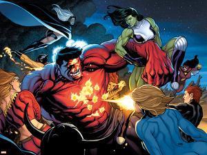 Hulk No.9 Group: Rulk, She-Hulk and Storm by Frank Cho