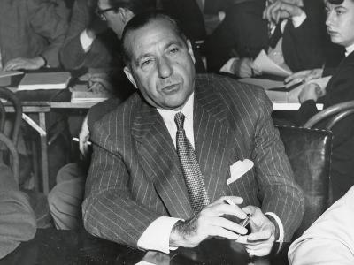 Frank Costello Testifying before a Senate Interstate and Foreign Commerce Subcommittee--Photo