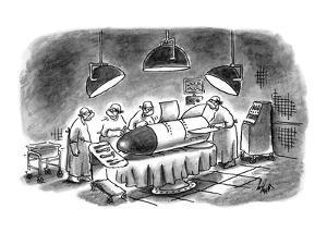 """Damn it, I'm a brain surgeon, not a rocket scientist!"" - New Yorker Cartoon by Frank Cotham"