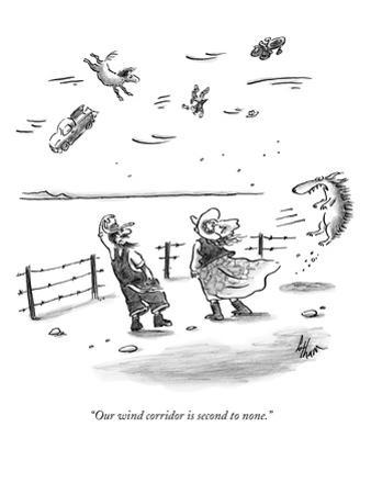 """""""Our wind corridor is second to none."""" - New Yorker Cartoon by Frank Cotham"""