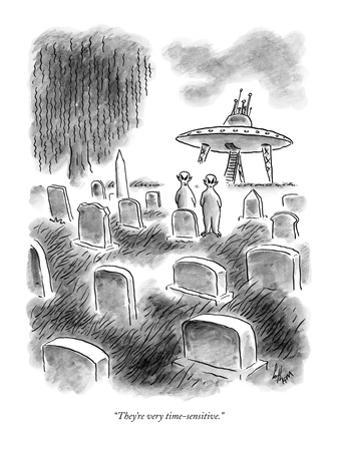 """""""They're very time-sensitive."""" - New Yorker Cartoon by Frank Cotham"""