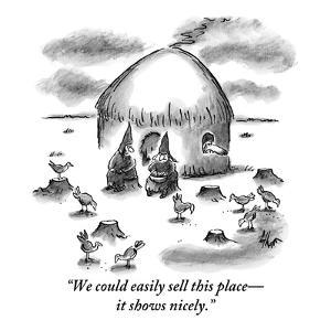 """We could easily sell this place?it shows nicely."" - New Yorker Cartoon by Frank Cotham"