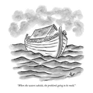 """When the waters subside, the problem's going to be mold."" - New Yorker Cartoon by Frank Cotham"