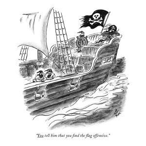 """You tell him that you find the flag offensive."" - New Yorker Cartoon by Frank Cotham"