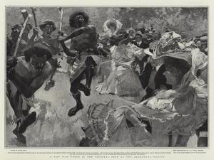 A Fiji War Dance in the Colonial Fete at the Alexandra Palace by Frank Craig