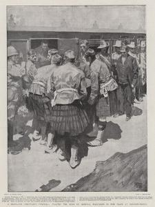 A Highland Chieftain's Funeral, Placing the Body of General Wauchope in the Train at Magersfontein by Frank Craig