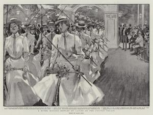 A Novel Bicycle Display by Ladies at the Crystal Palace by Frank Craig