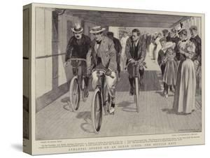 Athletic Sports on an Ocean Liner, the Bicycle Race by Frank Craig