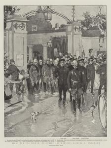 Back from the Soudan, Welcoming the Howitzer Battery at Woolwich by Frank Craig