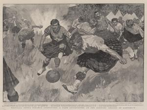 Football under Strange Conditions, a Game Interrupted on the Gordon's Ground at Ladysmith by Frank Craig