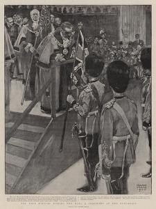 For Safe Keeping During the War, a Ceremony at the Guildhall by Frank Craig