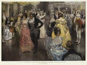 In the Early Days of Our Century, a Society Function in 1800 by Frank Craig