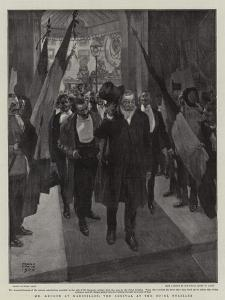Mr Kruger at Marseilles, the Arrival at the Hotel Noailles by Frank Craig