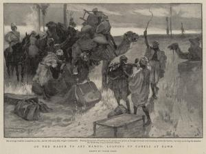 On the March to Abu Hamed, Loading Up Camels at Dawn by Frank Craig