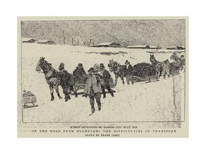 On the Road from Klondyke, the Difficulties of Transport by Frank Craig